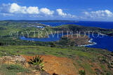 ANTIGUA, Mamora Bay and coast, view from Shriley Heights, ANT822JPL