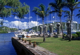 ANTIGUA, Nelson's Dockyard, Old Boat House area, with restored pillars, ANT832JPL