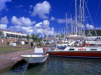 ANTIGUA, Nelson's Dockyard, historic buildings and moored yachts,  ANT633JPL