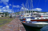 ANTIGUA, Nelson's Dockyard, historic buildings and moored yachts, ANT833JPL