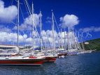 ANTIGUA, Nelson's Dockyard, row of moored yachts, ANT631JPL