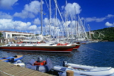 ANTIGUA, Nelson's Dockyard, waterfront and moored yachts, ANT835JPL