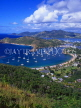ANTIGUA, Nelson's Dockyard and English Harbour, view from Shirley Heights, ANT622JPL