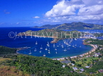 ANTIGUA, Nelson's Dockyard and English Harbour, view from Shirley Heights, ANT624JPL