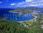 ANTIGUA, Nelson's Dockyard and English Harbour, view from Shirley Heights, ANT625JPL