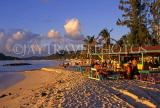 ANTIGUA, West Coast, Jolly Beach, tourists and beach bar, late afternoon, ANT795JPL