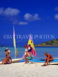 ANTIGUA, West Coast, beach with tourists and sailboats, ANT672JPL