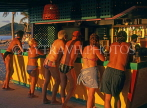 ANTIGUA, West Coast, holidaymakers at beach bar, sunset time, ANT724JPL