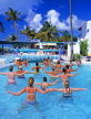 ANTIGUA, holidaymakers enjoying keep fit lessons in pool, ANT661JPL