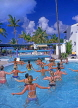 ANTIGUA, holidaymakers enjoying keep fit lessons in pool, ANT662JPL