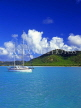 ANTIGUA, island view and sailboat, view from sea, ANT694JPL