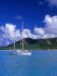 ANTIGUA, island view and sailboat, view from sea, ANT695JPL