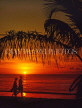 ANTIGUA, sunset and coconut tree, couple along beach, ANT726JPL