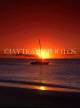 ANTIGUA, sunset with catamaran at sea, in  silhouette, ANT730JPL