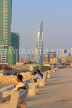 BAHRAIN, Manama, King Faisal Corniche, evening light, and Bahrain World Trade Centre, BHR730JPL