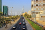 BAHRAIN, Manama, King Faisal Highway, view towards Bahrain World Trade Centre, BHR710JPL