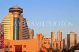 BAHRAIN, Manama, Sanabis area, Chamber of Commerce building, sunset skyline, BHR1135JPL