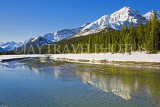 CANADA, Alberta, Jasper National Park, Rockies, mountain reflection along Icefield Parkway, CAN745JPL