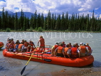 CANADA, Alberta, river rafting, on Athabasca River, CAN108JPL