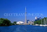 CANADA, Ontario, TORONTO, CN Tower and Skydome, CAN556JPL