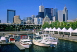 CANADA, Ontario, TORONTO, Downtown skyline and yachting marina, CAN557JPL