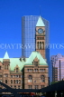 CANADA, Ontario, TORONTO, Nathan Philip Square, Old City Hall and skycraper, CAN562JPL