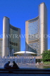 CANADA, Ontario, TORONTO, Nathan Philip Square and new City Hall, CAN560JPL