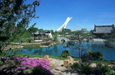 CANADA, Quebec, MONTREAL, Botanical Gardens, Chinese Gardens, and Olympic Tower, CAN125JPL