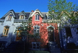 CANADA, Quebec, MONTREAL, Downtown, famous Tupper Street houses, CAN609JPL