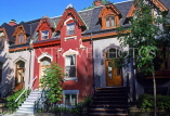CANADA, Quebec, MONTREAL, Downtown, famous Tupper Street houses, CAN6681JPL