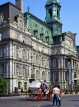 CANADA, Quebec, MONTREAL, Old Town, City Hall and horse drawn carriage, CAN479JPL