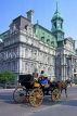 CANADA, Quebec, MONTREAL, Old Town, City Hall and horse drawn carriage, CAN682JPL