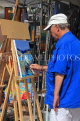FRANCE, Brittany, SAINT-MALO, Old Town, art stall, artists painting, FRA2681JPL