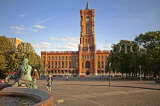 GERMANY, Berlin, Rotes Rathaus (Red City Hall), seat of city government, Alexanderplatz, GER1121JPL