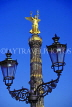 GERMANY, Berlin, Victory Monument (Grosse Stern) and street lamp, BER204JPL