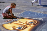 GERMANY, Cologne, Cathedral Square, street artist working, GER885JPL