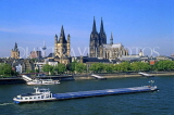 GERMANY, Cologne, city skyline, Cologne Cathedral and River Rhine, GER979JPL