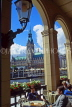 GERMANY, Hamburg, Rathaus (City Hall) and Alster Lake, view from cafe archway, HAM718JPL