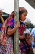 GUATEMALA, Antigua, Indian girl in traditional dress, in market, GUA293JPL