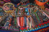 GUATEMALA, Antigua, traditional beadwork and textiles stall, GUA269JPL