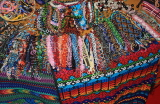 GUATEMALA, Antigua, traditional beadwork and textiles stall, GUA270JPL