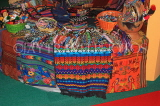 GUATEMALA, Antigua, traditional beadwork and textiles stall, GUA271JPL
