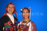 GUATEMALA, Guatemala City, couple in traditional attire, cultural show, GUA333JPL