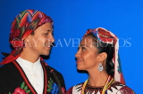 GUATEMALA, Guatemala City, couple in traditional attire, cultural show, GUA334JPL
