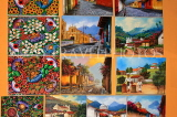GUATEMALA, Guatemala City, paintings for sale, shopping, GUA266JPL