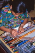 GUATEMALA, Guatemala City, woman weaving, traditional crafts, GUA275JPL
