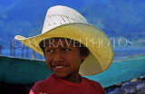 GUATEMALA, Guatemala City, young boy wearing hat, GUA256JPL