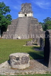 GUATEMALA, Mayan sites, TIKAL, Grand Plaza, Temple 2 (Temple of Masks), GUA254JPL