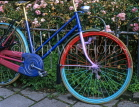 HOLLAND, Amsterdam, bicycle painted in multi colours, HOL616JPL