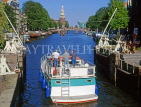 HOLLAND, Amsterdam, boat passing through Sint Antonius Sluis (lock), HOL625JPL